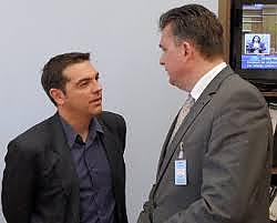 Emile in gesprek met Tsipras